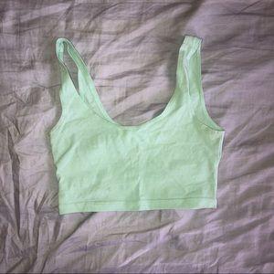 American Apparel Womens Cotton Spandex Crop Top